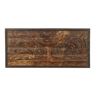 Italian Rectangular Ceiling Panel/Wall Decoration Painted with Rinceaux For Sale