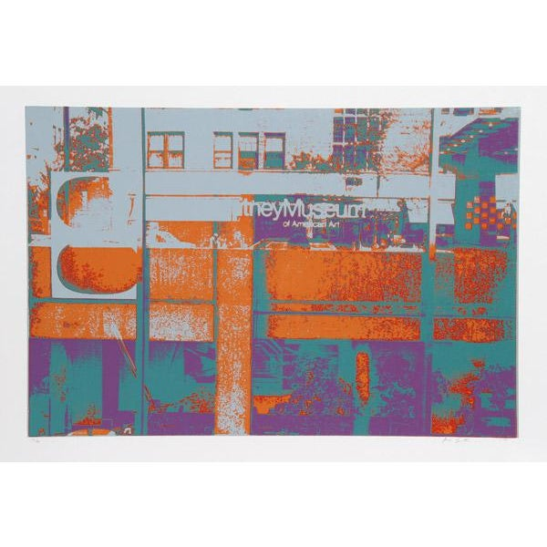 "Modern 1980 Max Epstein ""Whitney"" Print For Sale - Image 3 of 3"
