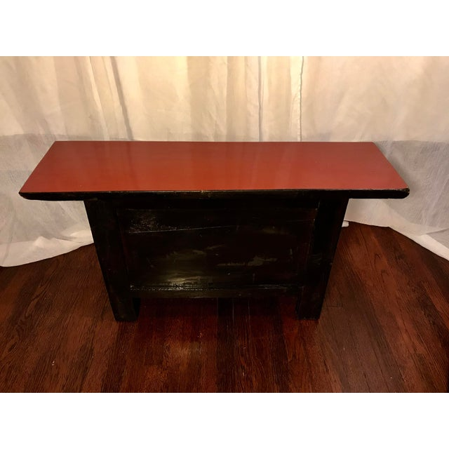 Lacquer 20th Century Chinese Cinnabar Colored Lacquered Sideboard Buffet For Sale - Image 7 of 11