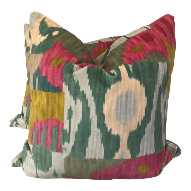 "Pierre Frey ""Bella Coola"" 22"" Pillows-A Pair For Sale"