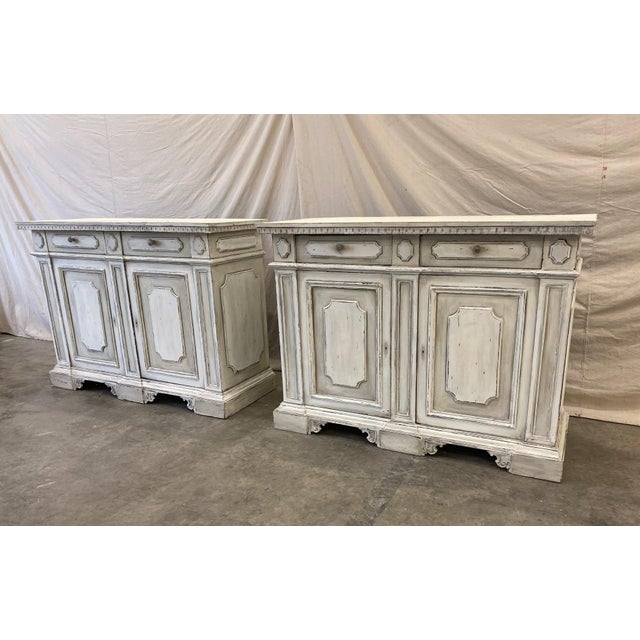 Italian Painted Buffet Cabinet For Sale - Image 9 of 10