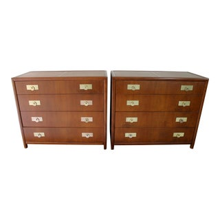 Pair of Michael Taylor for Baker's New World Collection Chest of Drawers