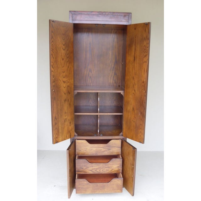 Ethan Allen Walnut Tall Cabinet - Image 4 of 4