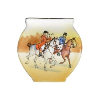 Steeplechase Hand Painted Vase Royal Doulton For Sale