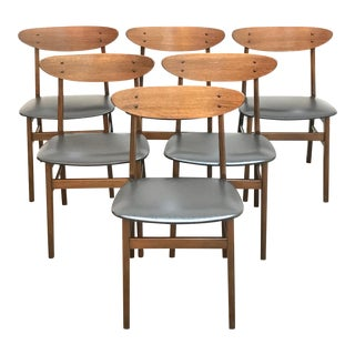 1960s Danish Mid Century Modern Dining Chairs by Farstrup - Set of 6 For Sale
