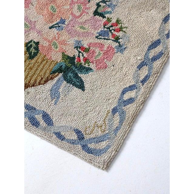 Vintage Hooked Rug For Sale - Image 6 of 8