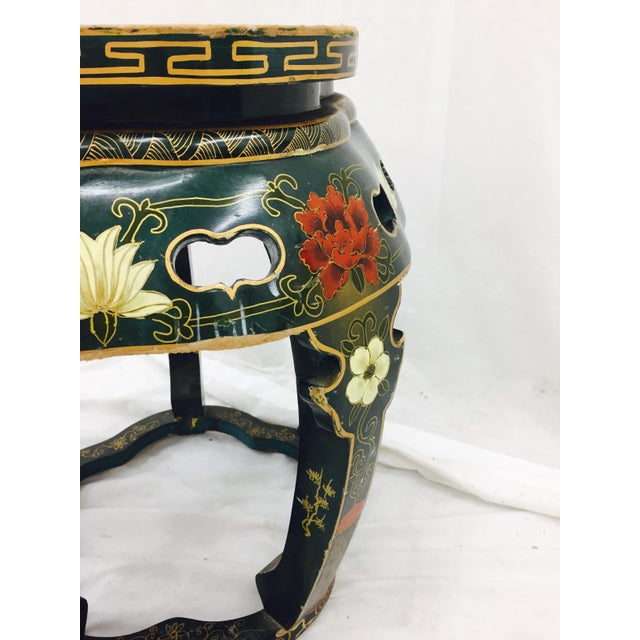 Vintage Asian Lacquered Side Table - Image 5 of 8