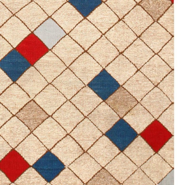 Mid 20th Century Mid-Century Swedish Kilim Rug - 7′ × 9′9″ For Sale - Image 5 of 7