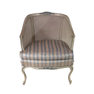 French Bergere Caned Accent Chair