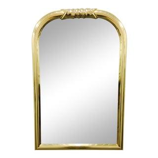 Vintage Mid-Century Brass Mirror For Sale