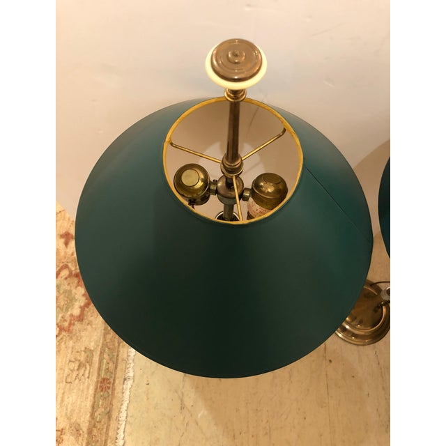 1980s 1980s Vintage Horn Motife Brass Table Lamps by Chapman- a Pair For Sale - Image 5 of 8