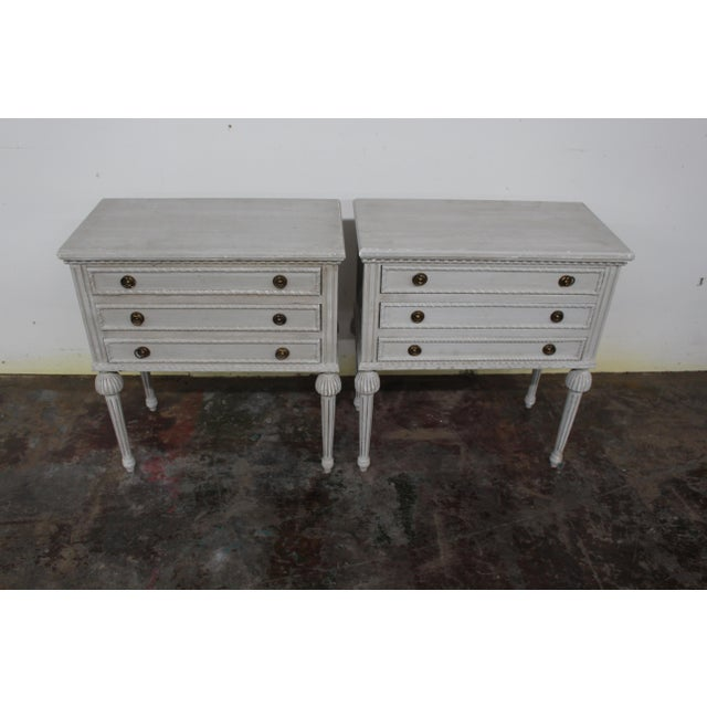 20th Century Swedish Gustavian Style Nightstands-A Pair For Sale In Atlanta - Image 6 of 8