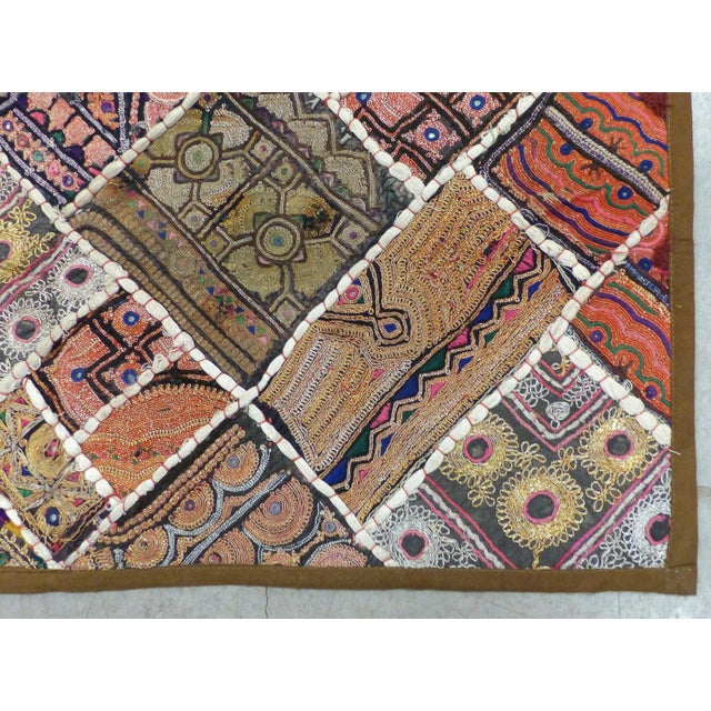 Traditional Antique Indian Wedding Saree Quilt For Sale - Image 3 of 9