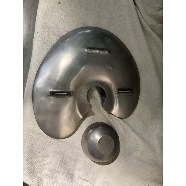 Mid 20th Century Mid 20th Century Modernist Cast Aluminum Platter With Detachable Bowl For Sale - Image 5 of 8