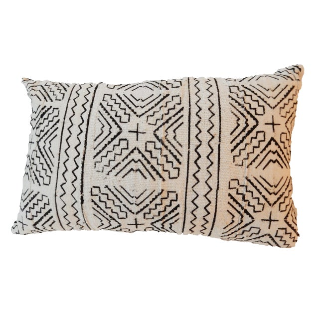 Custom Made Lumbar Mud Cloth Pillow - Image 3 of 3