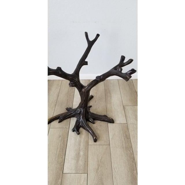 Vintage Sculptural Faux- Bois Bronze Dining Table . For Sale - Image 4 of 13