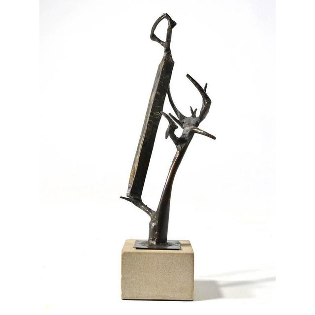 Abstract Abstract Bronze Sculpture by Clyde Ball For Sale - Image 3 of 11