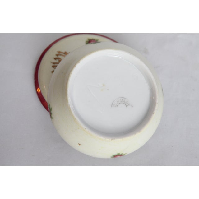 Antique Victorian Newburgh, NY Porcelain Hair Receiver - Image 4 of 11