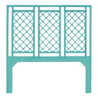 X & Diamond Headboard Queen - Turquoise For Sale