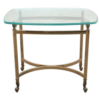 Maison Jansen Attributed Brass & Glass Table