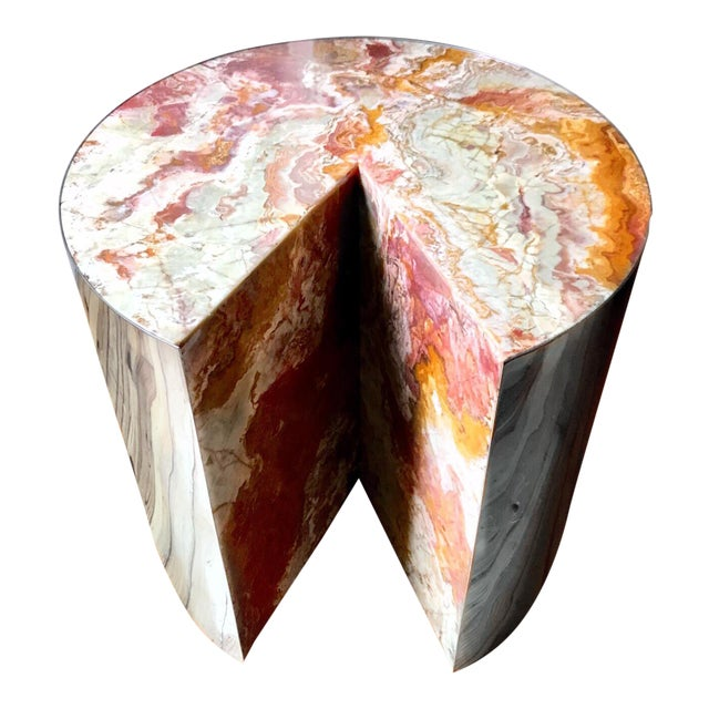 Final Markdown Pace Collection Red Jasper 'Pie' Side Table, 1970 - Image 1 of 9