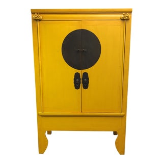 Vintage Chinese Yellow Wedding Cabinet