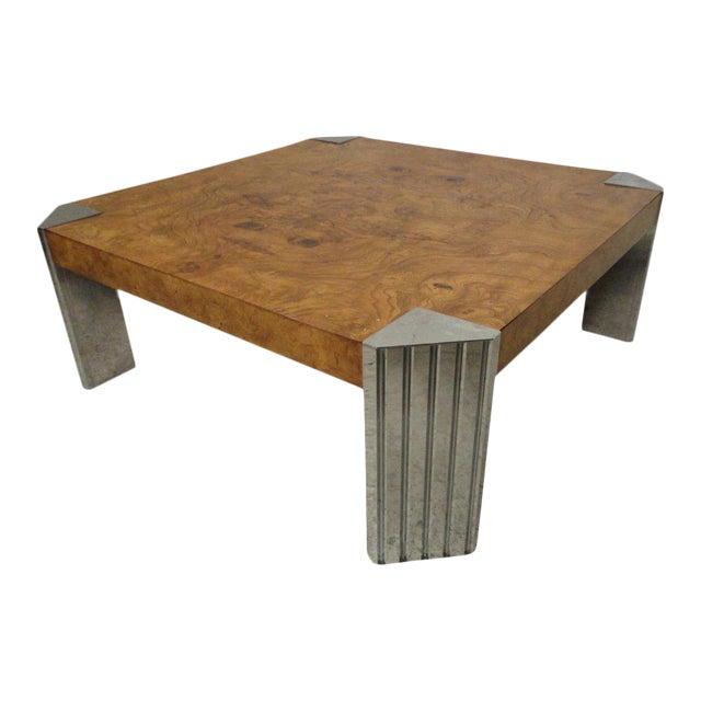 Burl Coffee Table Legs: Milo Baughman Burl Wood Coffee Table