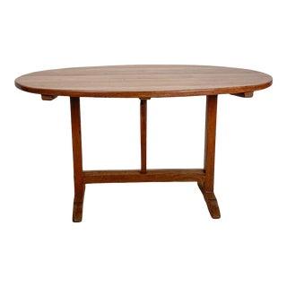 Vintage Oval Wine Table, France For Sale