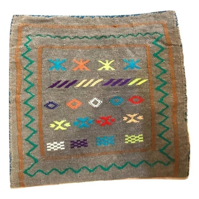 These hand-loomed pair of pillow cases from the Atlas Mountain features Berber tribal original design. This pair of...