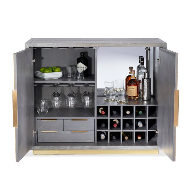Contemporary Interlude Home Fabienne Bar Cabinet For Sale - Image 3 of 6