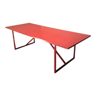 Contemporary Blu Dot Strut XL Red Lacquer Table For Sale