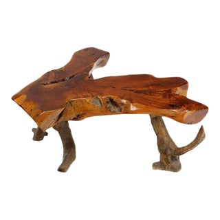 Organic Modern Driftwood Coffee Table For Sale