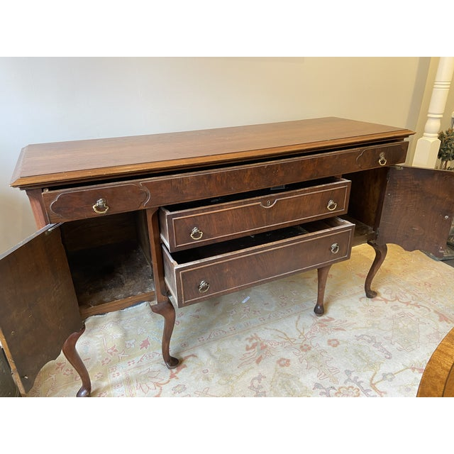 Antique French Mahogany Sideboard For Sale - Image 9 of 10