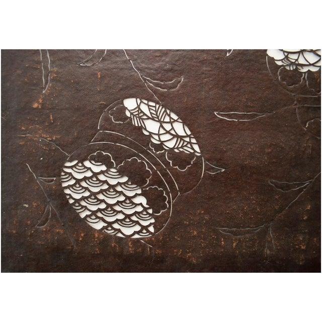 Mid 19th Century C.1850s Antique Edo Era Japanese Katagami Stencil Art For Sale - Image 5 of 9