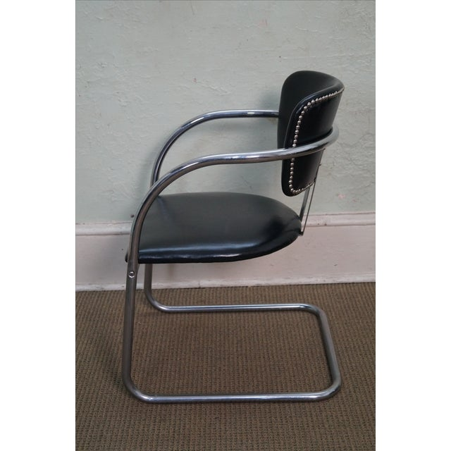 Country Chromecraft Vintage Mid Century Modern Arm Chair For Sale - Image 3 of 10