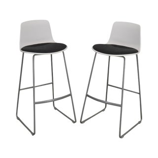 Steelcase Coalesse Enea Lottus Pair Sculpted Sled Bar Stools For Sale