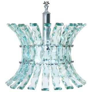Italian Chandelier in the Style of Fontana Arte