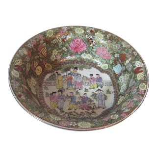 Large Rose Medallion Porcelain Bowl
