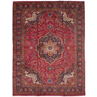 "Tabriz Persian Rug, 9'6"" x 12'6"" feet"