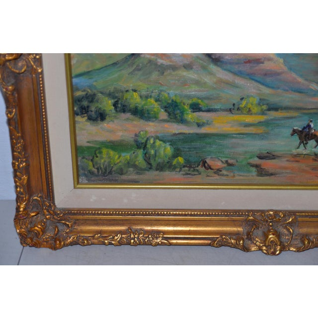 """Arizona Western Landscape """"near Flagstaff"""" Oil Painting by Francoise For Sale In San Francisco - Image 6 of 9"""