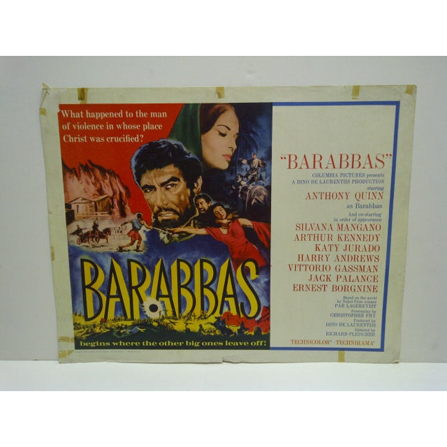 """This is a Vintage Movie Poster -- """"Barabbas"""" -- Starring Anthony Quinn -- Copyright 1962 -- Columbia Pictures."""