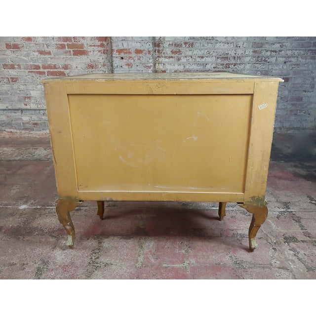 Beautiful Italian Florentine Gilt Chest of Drawers Commode For Sale - Image 9 of 10