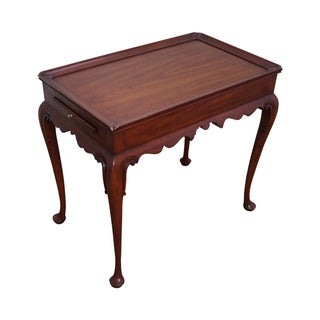 Solid Cherry Queen Anne Tea Table by Henkel Harris For Sale