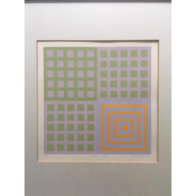 70's Geometric Abstract Silkscreens - A Pair - Image 7 of 8