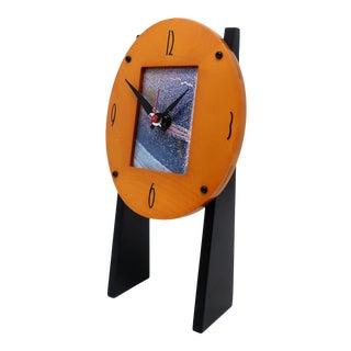 Postmodern Empire Arts Desk Clock For Sale