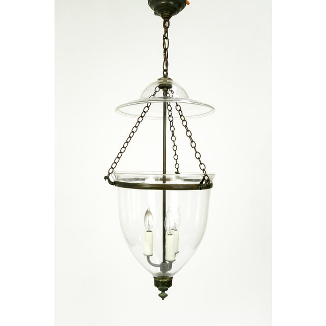 Transparent Victorian English Bell Jar Lighting For Sale - Image 8 of 8