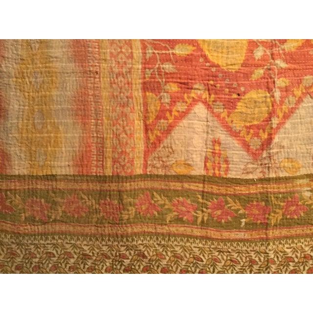 Vintage Kantha Quilt - Image 3 of 6