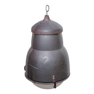 Industrial Pendant Light With Glass Shade