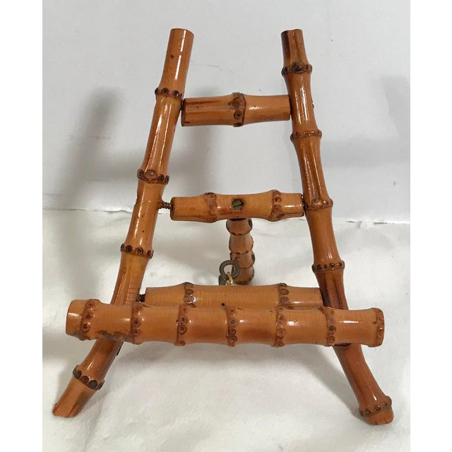 Wood Vintage Petite Bamboo Mini Easel For Sale - Image 7 of 7
