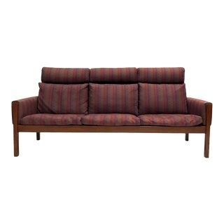 Rare Hans Wegner Teak Frame Sofa for A.P. Stolen High Back Version